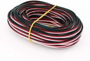 FUSE MODÈLE 26AWG / 22AWG JR Futaba Servo Extension Cable Wire 30/60 cordon de plomb pour les accessoires de câblage étendu RC DIY 5 mètres 16 pieds