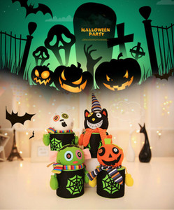 Hot Creative Halloween Horror Ghost Pumpkin Mini Paper Candy Gift Box Mini Paper Bags Box Baskets Gift For Kids