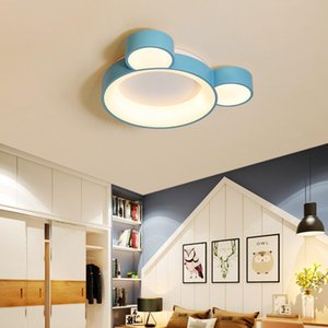 580x450mm Bianco / rosa / blu Finito principali moderne luci di soffitto Per Kid Camera dei bambini in camera da letto Lampada da soffitto Fixture