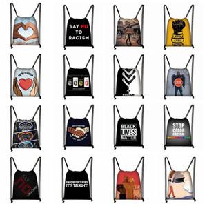 Ben spor Gym Depolama sırt çantası LJJK2183 Seyahat için çanta George Floyd Çanta İpli Sırt Çantası Dize Bags Cinch Sacks Sırt çantası Breathe Cant
