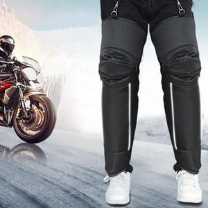 1 paio Inverno Moto ginocchio caldo rilievi antisdrucciolevoli ispessimento antivento scooter Rider Ginocchiere