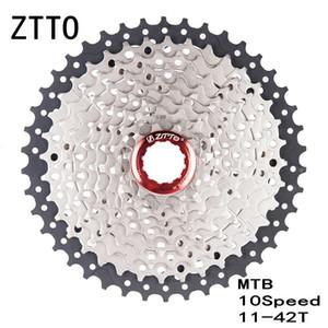ZTTO MTB Bike 10Speed 11-42T Cassetta a ruota libera Estensione del gancio posteriore Larghezza rapporto MTB Mountain Bicycle Parts Cassette Sprockets