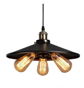 Personality American Country led vintage pendant lighting Vintage RH Loft Warehouse Pendant Light 3 Heads Droplight Iron Art Lighting