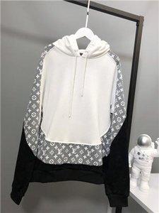 весной новые роскошные бренды дизайн Liv Лоскутная с капюшоном хлопок Толстовка Мужчины Женщины Streetwear Толстовка Наружная рубашка