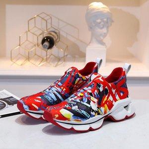 Neue Artikel Krystal Spike Sock Donna Flache Männer Sneakers Designer Luxury Mens Red Bottoms Schuhe Damen Rivet Spiky Socke Junior Spikes Flache Schuhe