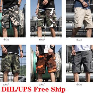 DHL 무료 배송 남성 여름면 통기성 반바지 패션화물 스트리트 힙합 짧은 바지 무릎 길이 캐주얼 남성 의류
