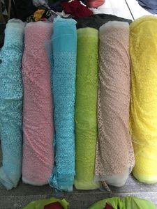 Rose Lace Tissu à coudre African Lace Swiss Voile Lace Tissu Nigeria Vêtements de mariage