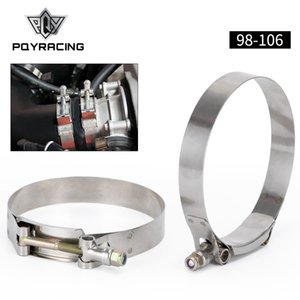 "PQY - (2PC / LOT) 3.75 ""클램프 (98-106) STAINLESS 실리콘 TURBO 호스 커플러 T 볼트 CLAMP KIT HIGH QUALITY PQY5257"