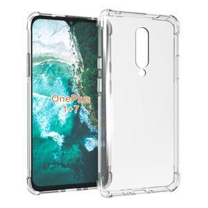 Macio TPU cristal transparente à prova de choque Magro Anti Slip protecção Phone Case Capa para OnePlus Nord 6 7/1 + 7 8 T7 Pro T6