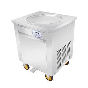 BEIJAMEI Thailand Roll Fry Мороженое Машина / Круглая Мороженое Холодная Плита / 110 В 220 В Жареная Машина Мороженого