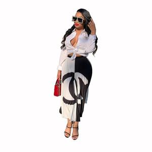2019 diseñador mujer vestidos de verano de color de contraste de moda vestido plisado mujeres remiendo de lujo faldas cortas vestido de fiesta ropa A61001