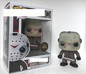 Funko POP Friday the 13th Jason hand-made ornament model Q version doll wholesale 01 # Glow in the Dark