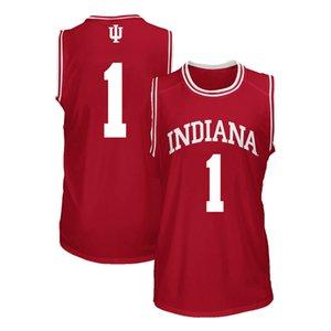 Camiseta de baloncesto de la universidad de Indiana Hoosiers Andrew Calomeris Noah Vonleh Cascos James Blackmon Aljami Durham voluntad Sheehey cosido de los hombres