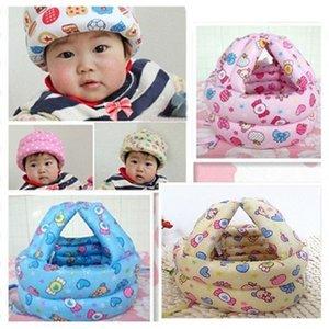 Baby Hat Algodón Baby Boy Girl Casco de seguridad Ajustable Baby Protective Cap Summer Walk Head Safetyprotection Kids Newborn Cap