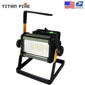 36LED 50W Rechargeable Led 2400Lum Floodlight Portable Flood Work Woring Lawn Light 6000K Spot Light for Outdoor Camping Sports