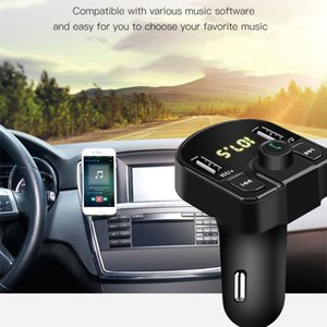 LED FM Transmitter 4.1A Car Kit Bluetooth Dual USB Car Charger 3.1A 1A 2 Port USB MP3 music player