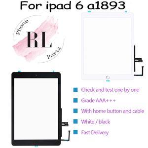 10PCS para iPad 9.7 para iPad 2018 6 6 de Gen A1893 A1954 de la pantalla táctil del panel frontal de cristal al aire libre con botón de inicio