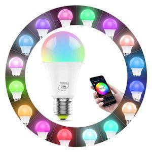 Bluetooth 4.0 Dimmable LED Bulb RGB 15W AC85-260V Wireless Magic LED lamp Stage light Music Smart Life Home Lighting E27-E14