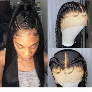 13*6 Lace Frontal Wig pre plucked with baby Hair Brazilian Straight Lace Front Human Hair Wigs for black women
