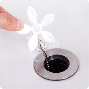 Fonksiyonlu Yer Sifonu Banyo Boru C Temizleme Kanca Küçük Çiçek Şekli Kanalizasyon Saç Dredge Karşıtı engelleme