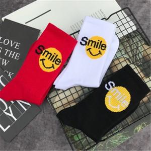 Mens longo Tripulação Unisex Meias Streetwear Sorriso expressão longa de algodão do sexo masculino Meias Hip Hop legal engraçado Skate Socks