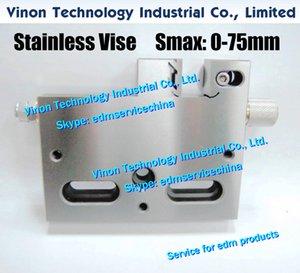 VISE-75 Точность нержавеющей тиски Max Open: 0-75mm (125Lx104Hx21W), Wire-EDM тиски, прецизионные тиски 75мм Stainless диапазона для проволочной эрозионной