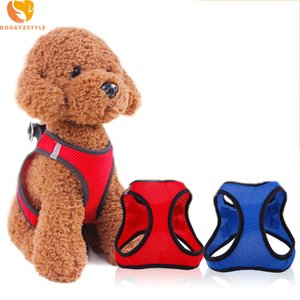 Arnés ajustable para perros Chaleco para perros Cachorro Gato Poliéster Malla Pecho Suave Comodidad Correa para mascotas Para perros pequeños Accesorios para perros Doggyzstyle