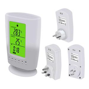 1 Adet Programlanabilir Kablosuz Termostat Soket Beyaz LCD Ev Akıllı Sıcaklık Kontrol Soket AB / ABD / İngiltere Tak