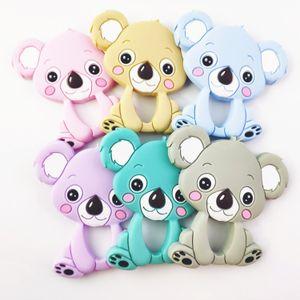 Koala Infant Teethers Kinderkrankheiten Anhänger Lebensmittelqualität Silikon Beißring Nursing Aide Schnuller Clips Baby Spielzeug Kauen Anhänger Baby Geschenk GGA2618