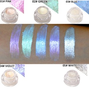 Surligneurs polarisés de couleur crème 5 couleurs Aurora Rainbow Brighten Dazzle maquillage sans logo caméléons de lumière font des cosmétiques de la marque privée