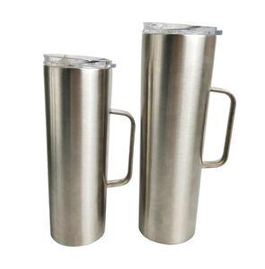 saplı 30 oz 20 oz sıska mandal yalıtılmış mandal bardak toz kaplı çift çeper, vakum, su şişesi Paslanmaz çelik kazanlı