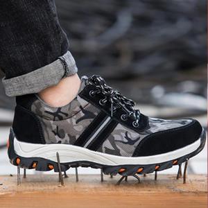 Мужская рабочая защитная обувь Ботинки Армейские военные ботинки Камуфляжные кроссовки из древесины Стальная носка Botas Hombre Zapatos De Hombre