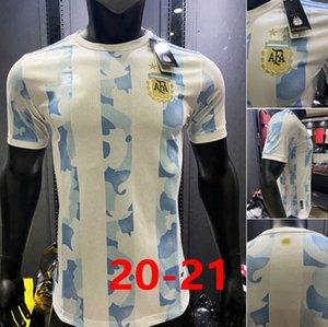 2020 Argentina Versión jugador Messi DI MARIA HIGUAIN Icardi fútbol jerseys Dybala 2021 camisas del fútbol de los hombres AGUERO Lautaro Uniformes + niños conjunto