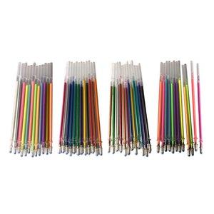 48PCS جل القلم نيون الغيارات اللون خرطوشة الحبر فلاش القلم السلس