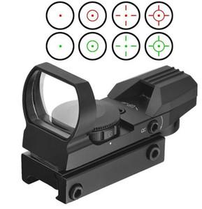 البصريات المدمجة 1x22x33 الأحمر النقطة الخضراء البصر ريفلكس نطاق 4 شبكاني للصيد التكتيكي ريفلكس الأحمر / الأخضر الليزر 4 شبكاني