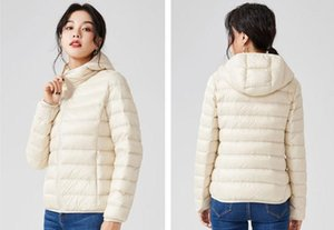 NEW down jacket woman hooded Ultra Light Duck Down Padded Jacket Short Female Overcoat Slim Solid Coat Portable Parkas