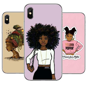 Best Queen Afro Melanin Poppin Fundas para iPhone 12 11 Pro Manex Fashion Black Girl Clara suave Clara para 6 6SPLUS 7 7PLUS 8 8PLUS XS MAX XS
