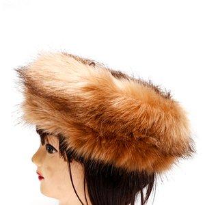 Inverno Faux Fur Headbands para Mulheres Feminino Cabeça Warmer Fox Fur Hat Inverno Earwarmer Turbante Faixa de Cabelo Para As Mulheres Acessórios de Cabelo