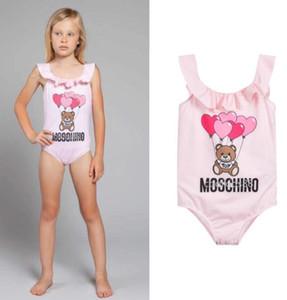 Bella Designer Kids Clothes ragazza di nuoto del vestito Swimwear dei bambini del costume da bagno modello orso delle tute bambini Beach Fashion Wear