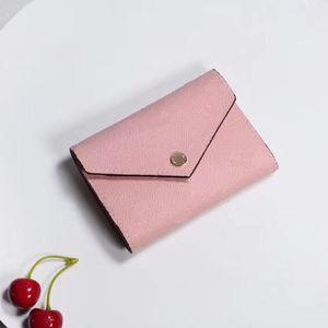 Tasarımcı cüzdan Toptan Lady Çok renkli Coin Çanta kısa Cüzdan Renkli Kart Sahibi Orijinal Kutusu Kadınlar Klasik Fermuar Cep kart sahibi