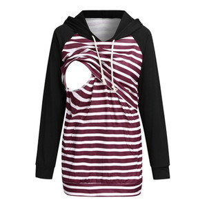 Xxl Spring Breastfeeding Clothes For Women Long Sleeve Hooded Pullover Sweatshirt For Nursing Pregnant Clothes For Mothers
