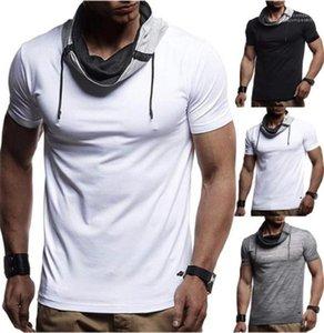 Gömlekler Yuvarlak Yaka Kısa Kollu Spor Tees Yaz Nedensel Erkek Sıcak Skinny Spor Erkek Base Tops