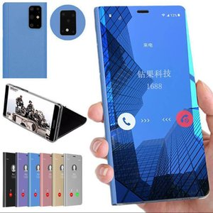 Espelho Caso Flip Phone para Samsung Galaxy S20 / S11E / S10E s11lite note10lite / M60S / A81 note9 Hard Case quente