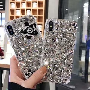 Huawei Mate 20 pro / P20PRO P30 * / P30 PRO / honor 10 Lite / Y9 2018 용 다이아몬드 여우 동백 블링 크리스탈 휴대 전화 쉘
