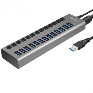Acasis Hub USB 3.0 High Speed ​​13 ports USB 3.0 Portable Hub Switch et adaptateur d'alimentation externe prise US HUB USB Splitter avec cordon d'alimentation