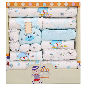 17PCS Newborn Clothes Set Kit Infant Baby Boys Girls Clothing Tops Pants Hat Socks Infants Toddle kids Outfit Set Christmas Gift