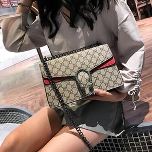 Hohe Qualität Luxus Lady Bag 2019 Neue Retro Pu Lock Lady Einzelner Schulterbeutel Mode Druckkette Schräge Tasche Y19052701