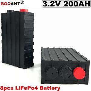 8PCS ديب دورة 3.2V LIFEPO4 بطارية ليثيوم 24V 200AH دراجات كهربائية بطارية 24V لتخزين EV / الطاقة / الطاقة الشمسية نظام / UPS
