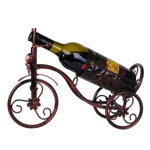 Şarap Şişesi Sahipleri ya da Wall Şarap standı Dağıtıcı Wine Bar Optik Metal bisiklet Monteli