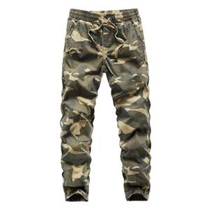 Luulla Homens Jogger 2020 Primavera do lápis Vintage Harem calças cargo Homens Camuflagem calças soltas Fit Carga Calças Jogger